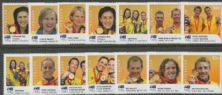 AUS SG3038A-51A Beijing Olympics Gold Medal Winners set of 14 - digital printing